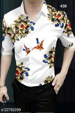 R-Fab Trendy Men Floral Print Poly Crepe Multicolor Shirt