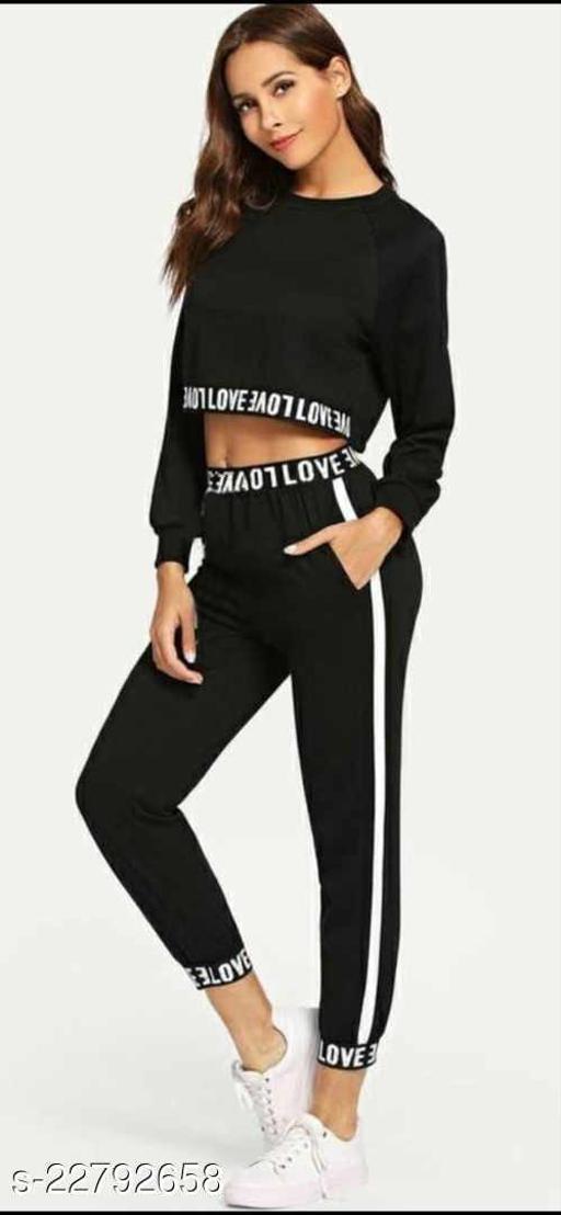 Venisha Fashion Rib Cotton Track Suit for Women/Girls (Night Dress/Track Suit)