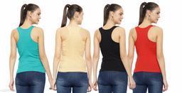Women Pack of 4 Lavendar Modal Camisoles