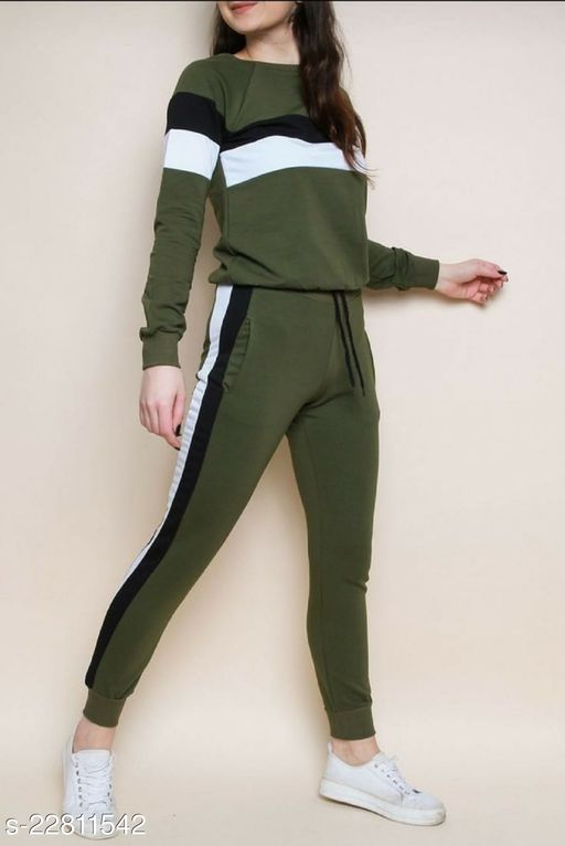 MEE KART Rib Cotton Track Suit for Women/Girls (Night Dress/Track Suit)