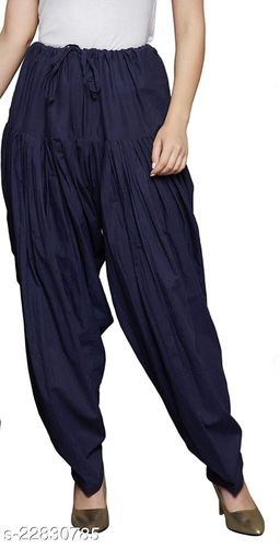 SUPERIOR QUALITY BEST SELLING WOMEN PURE COTTON PATIALA SALWAR NAVY BLUE
