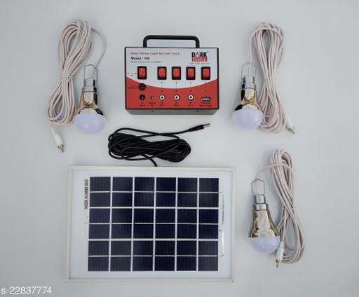 DARK Fight Solar Home Light Set with Torch