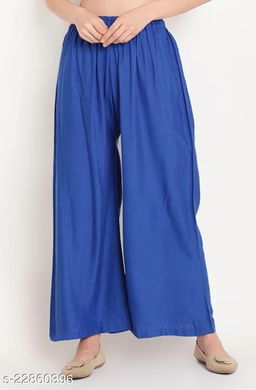 SUPERIOR QUALITY BEST SELLING WOMEN PURE COTTON PALAZZO ROYAL BLUE