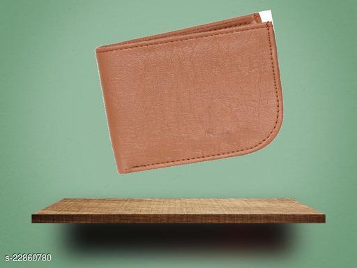 fashlook tan curve wallet for men