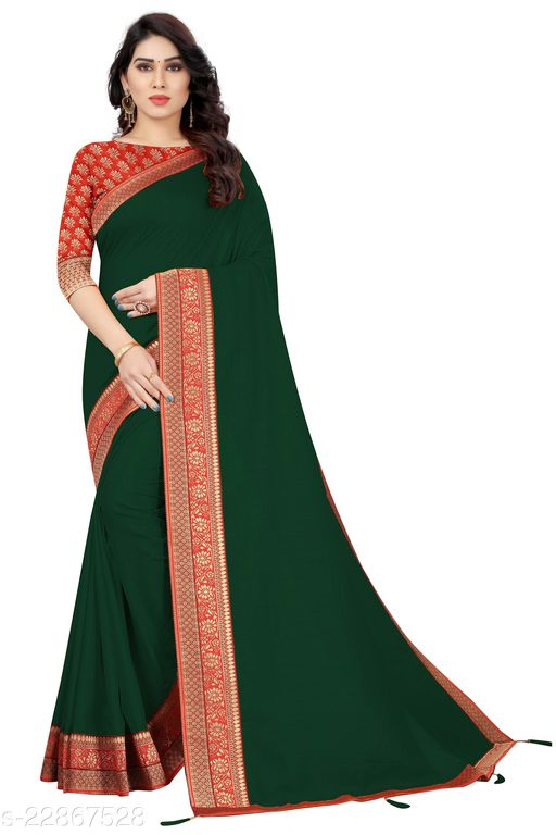 PANETAR Wedding Lace Border Soft Silk Wedding Saree