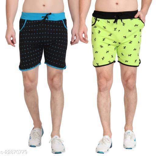 Mens Printed Shorts Pack of 2