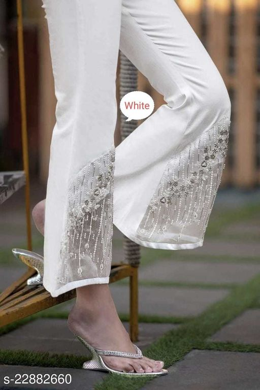 Trendy women's bootcut trousers