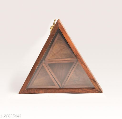 JNM Crafts Wooden Masala Box Set  Kitchen container 1 Piece  Spice Set (Triangle)