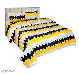 120 TC Polycotton Double 3D Printed Bedsheet -Multicolor-4