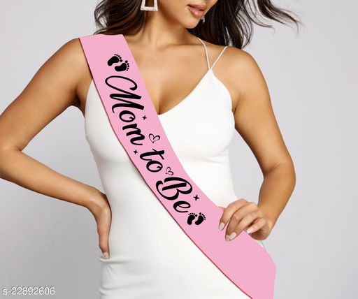 """Style Secrets Ballerina pink 3.7"""" Mom to Be Sash for all Mommies for Party Dress Pair up"""