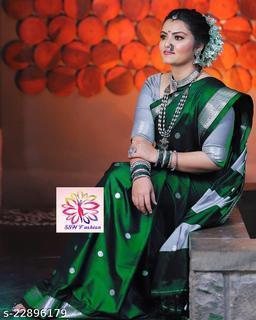Shree silk Black Silver zari Pethni Design saree