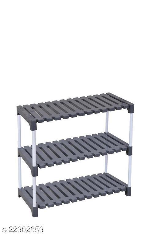 Multipurpose Plastic & Metal  3 Layer Shoe Rack