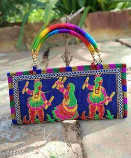 Designer Silk Kutchi Work Women's Bag
