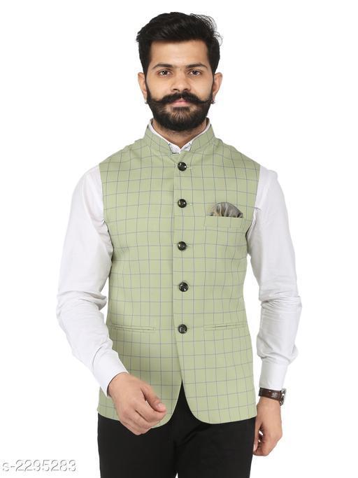 Stylish Cotton Viscous Blend Printed Ethnic Jacket