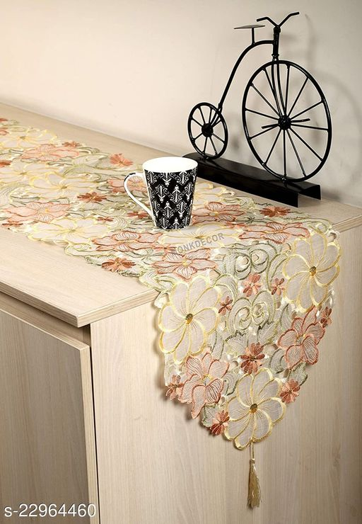 Tissue Cutwork Dining Table Runner