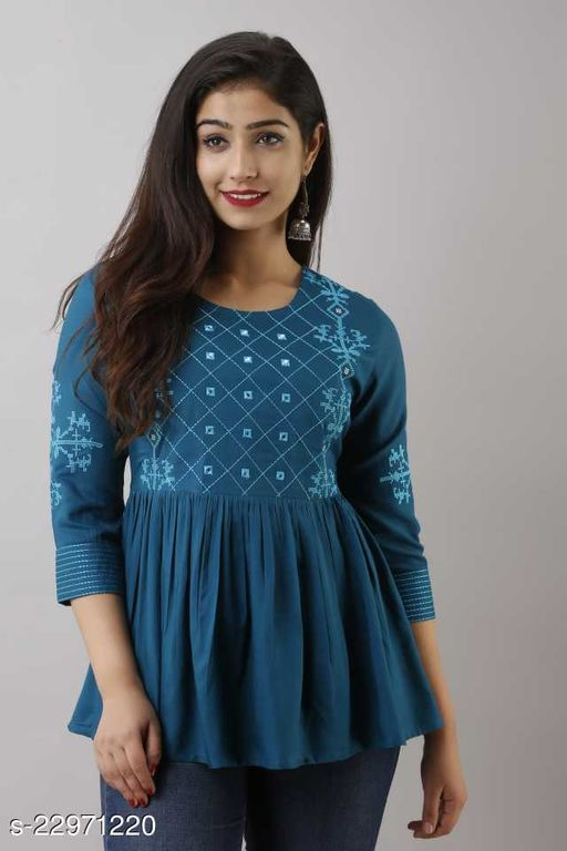 Women's Reyon Embroidered Top & Tunic