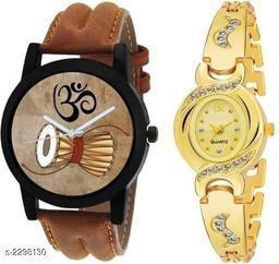 Stylish Men's & Women's  Watch (Combo)