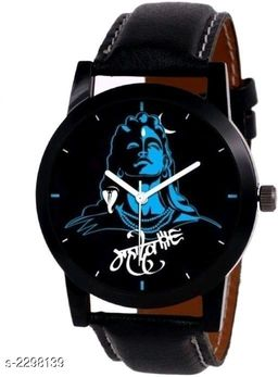 Men's Analog Synthetic Leather Watch
