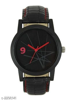 Trendy Men's Synthetic Leather Watch