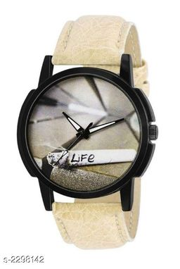 Trendy Analog Synthetic Leather Watch For Men