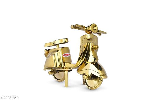 TINY SOULS Miniature Vintage Brass Scooty Playset or Showpiece Figurene For Home Decor | Pack Of 1