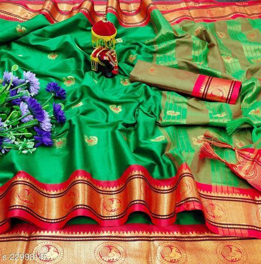 Trendy beautiful silk saree