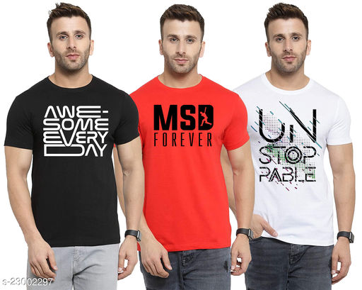 Ansh Fashion Wear Present Digital Print T-Shirt for Men and Boys Pack of 3