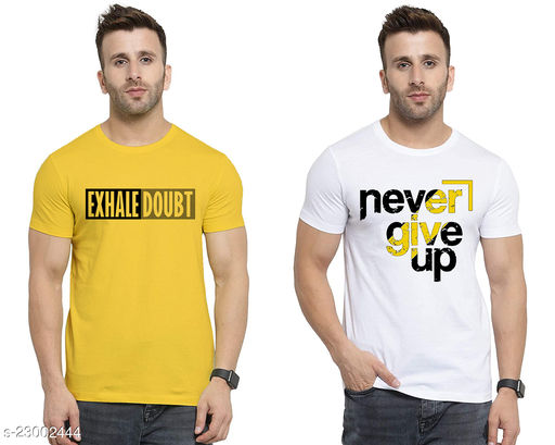 Ansh Fashion Wear Present Digital Print T-Shirt for Men and Boys Pack of 2