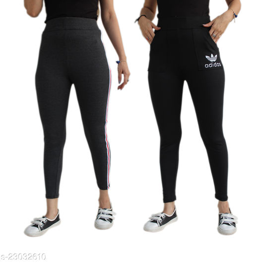 Women's Printed Jegging Combo Pack Of 2_stylish pants for women_girls Yoga pants_combo pack of 2