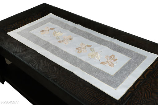 Butterfly Centre Table Runner( Size-33x15 Inches)Gold Color.