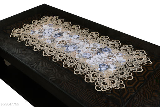 Cotton Printed lace Centre Table Runner(Size-33 x15 Inches) Design-4