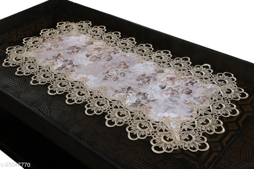 Cotton Printed lace Centre Table Runner(Size-33 x15 Inches) Design-3