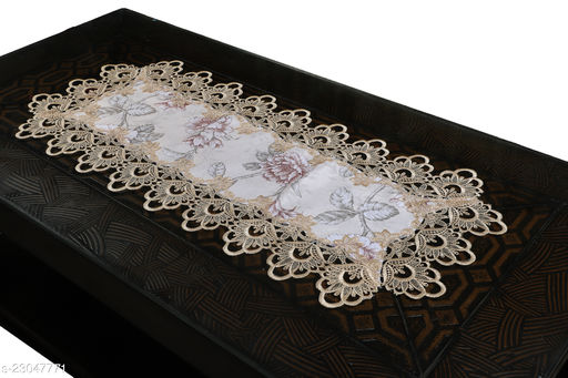 Cotton Printed lace Centre Table Runner(Size-33 x15 Inches) Design-2