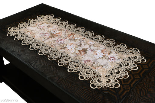 Cotton Printed lace Centre Table Runner(Size-33 x15 Inches) Design-1