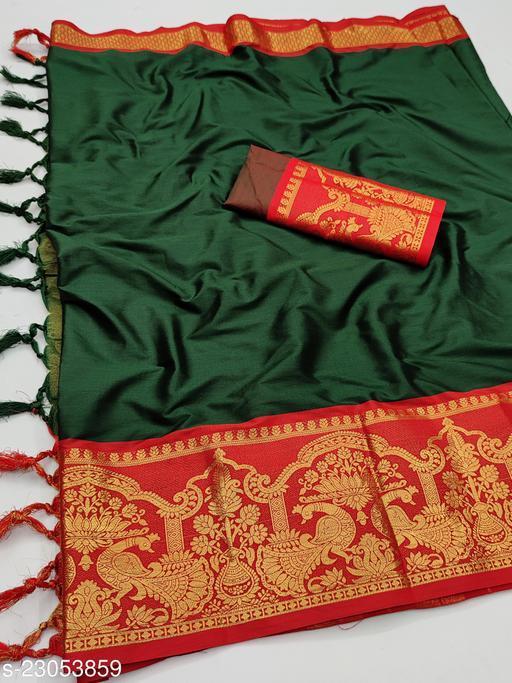 Fancy Soft aura cotton silk party wear sarees