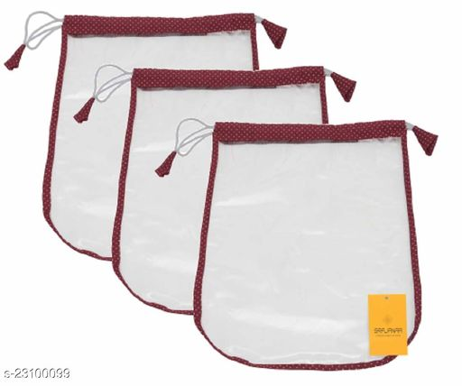 Srajanaa Shoe Storage Pouch & Shoe Cover for Home, Small Shoe Cover Set/Shoe Pouch (Set of 3, Maroon)