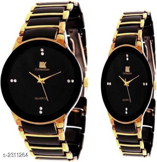 Elegant Analog Couple Watch