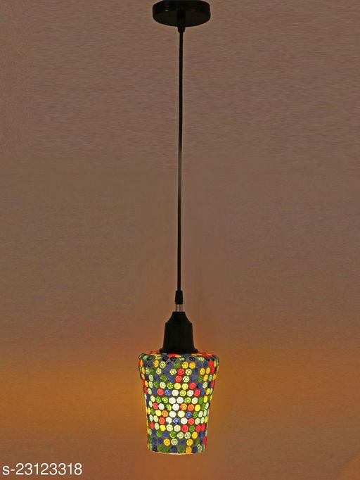 Somil New Launch Decorative Mozac Pendant Hanging Ceiling Lamp Ornamented With Colorful Chips & Beads With Magical Effects