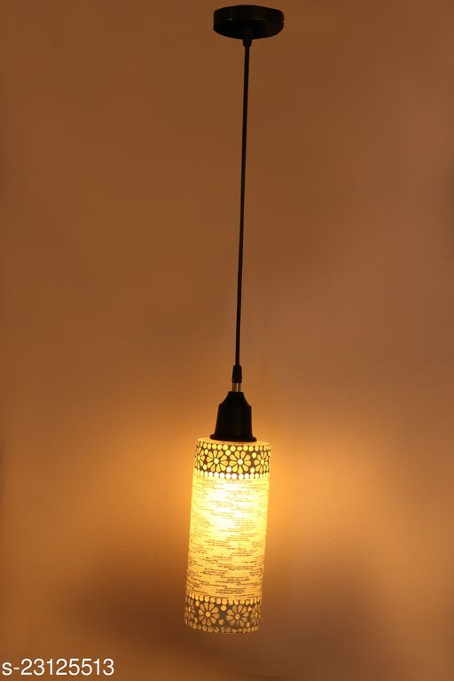 Somil New Launch Decorative Colorful Mozac Pendant Hanging Ceiling Lamp Ornamented With Colorful Chips & Beads With Magical Effects