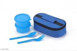 Lunch With  2 Pieces Container  & Bag
