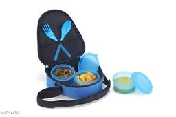 Lunch With  3 Pieces Container  & Bag