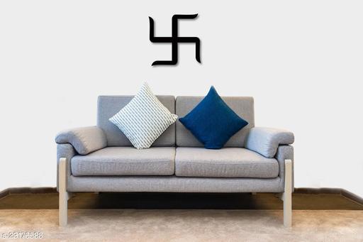 Swastik Wall Hanging, Wooden, Black Matte