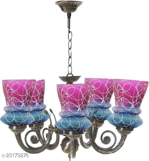 Somil Colorful Decorative Glass shade In Metal For Royal Bright Lighting Decoration