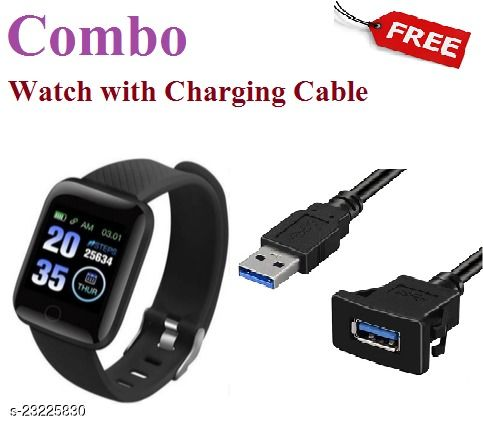 ID116-COMBO Smart Fitness Watch with Charging Cable Free
