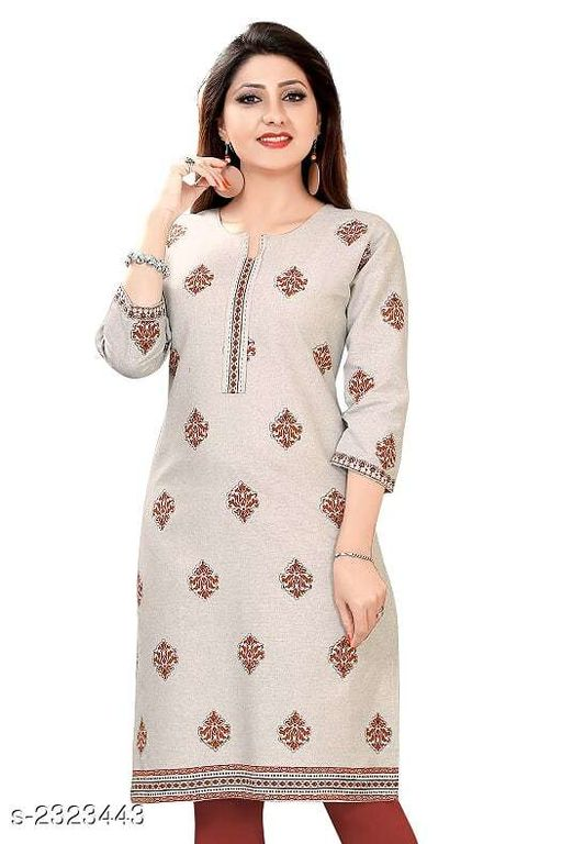 Kurtis & Kurtas Party Wear Printed Women's Kurti  *Fabric* Cotton  *Sleeves* Sleeves Are Included  *Size* 5XL - 50 in, 7XL - 54 in  *Length* Up To 42 in  *Type* Stitched  *Description* It Has 1 Piece Of Women's Kurti  *Work* Printed  *Sizes Available* 42, 46   Supplier Rating: ★4.3 (72) SKU: D0580 Free shipping is available for this item. Pkt. Weight Range: 300  Catalog Name: Jivika Party Wear Printed Plus Size Women's Kurtis Vol 10 - Amba Ethnic Center Code: 915-2323443--