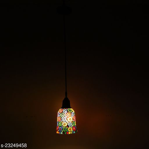 Afast New Launch Decorative Colorful Mozac Pendant Hanging Ceiling Lamp Ornamented With Colorful Chips & Beads With Magical Effects