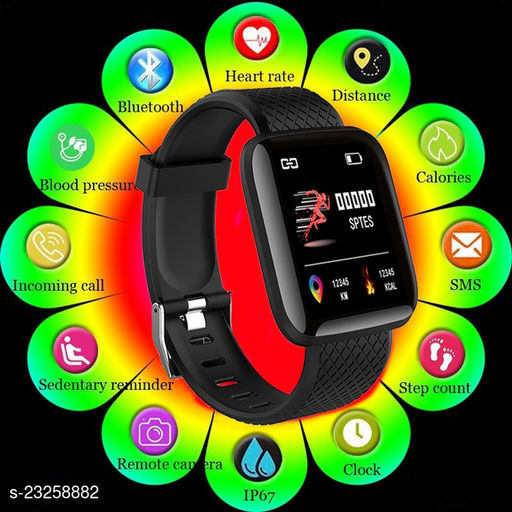 ID116-ALS-1 Activity Tracker Smart Fitness Digital Watch for Men&Women
