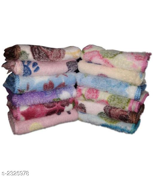 Graceful Microfiber Face Towels(Pack Of 12)