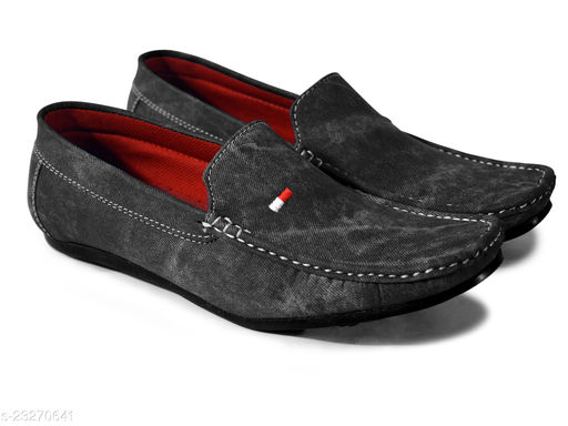 Feetway Stylish Premium Synthetic Suede Leather Without Lace Ethnic Wedding Casual Loafers Shoes For Men