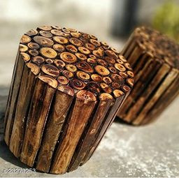 Wooden Round Shape Stool Natural Wood Logs Best  Used as Bedside Tea Coffee Plants  Table for Bedroom Living Room Outdoor  Garden Furniture Pre-Assembled - 12  inch